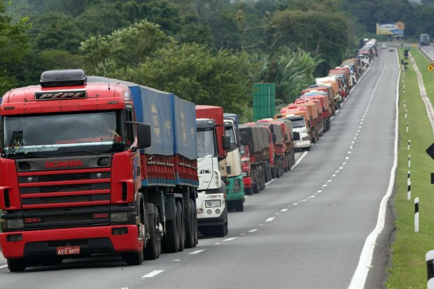 Carga nas estradas brasileiras