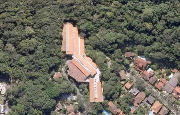 IMPA e sua vizinhança, acima do Jardim Botânico