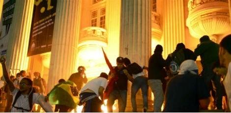Tentativa de queima do Palácio Tiradentes