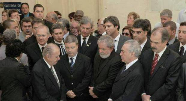 Lideranças de QP reunidas