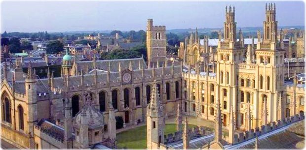 Vista da Universidade de Oxford, UK