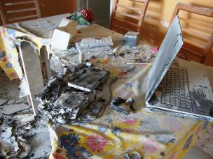 Cuidado, laptop incendiário!