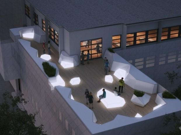 Vista da cobertura do prédio da Escola 42