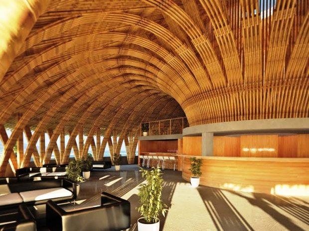 Bambu no design da estrutura