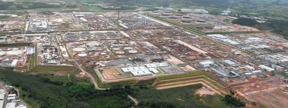 "Vista das obras da Refinaria do Nordeste ou ""Refinaria Abreu e Lima"""
