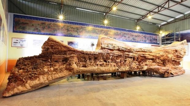 Vista frontal da peça de 90 toneladas