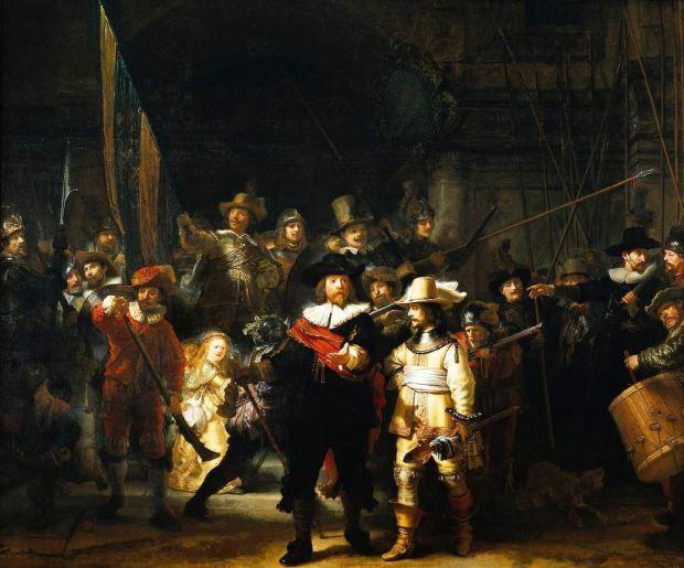A Ronda Noturna, por Rembrandt