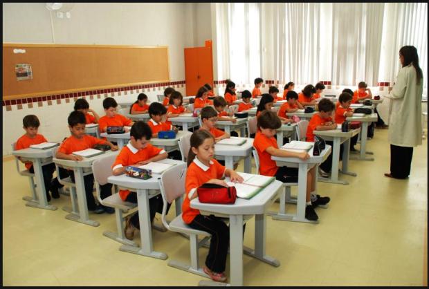 Escola básica na Suécia