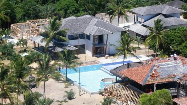 Imagem aérea das obras do Campo Bahia