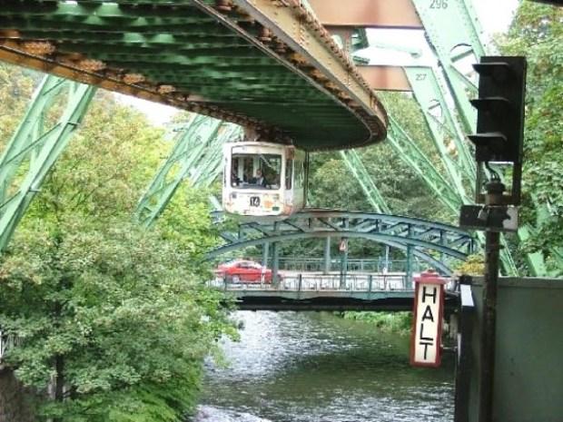 Passagem sobre pontes do rio Wupper