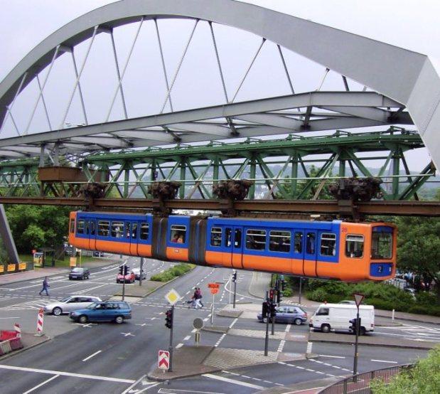 Passagem sobre via urbana
