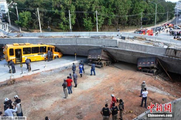 Viaduto brasileiro desabado em Belo Horizonte