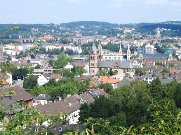 Vista da cidade de Wuppertal