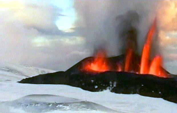 Imagem do Bardarbunga em erupção