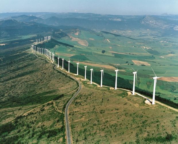 Um parque eólico espanhol, erguido no século passado