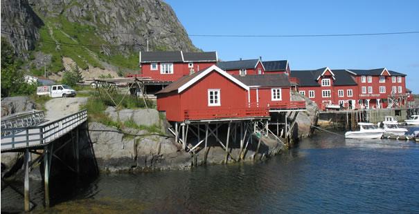 Vila de pescadores, nos arredores de Oslo