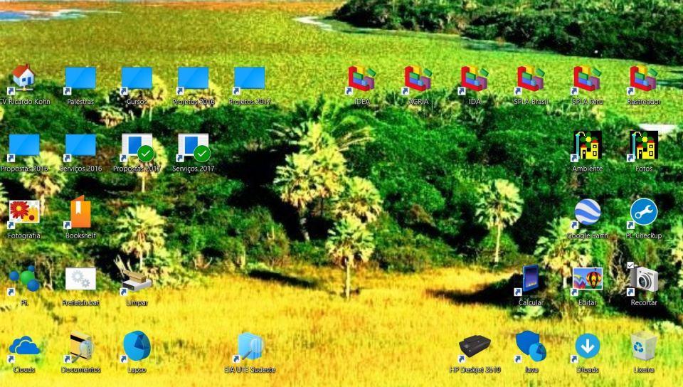 Tela do computador de um aficionado em Gestão do Ambiente