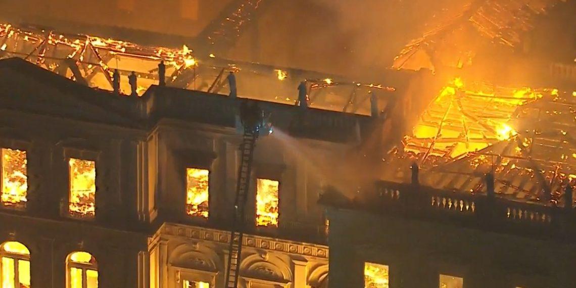 O auge do incêndio