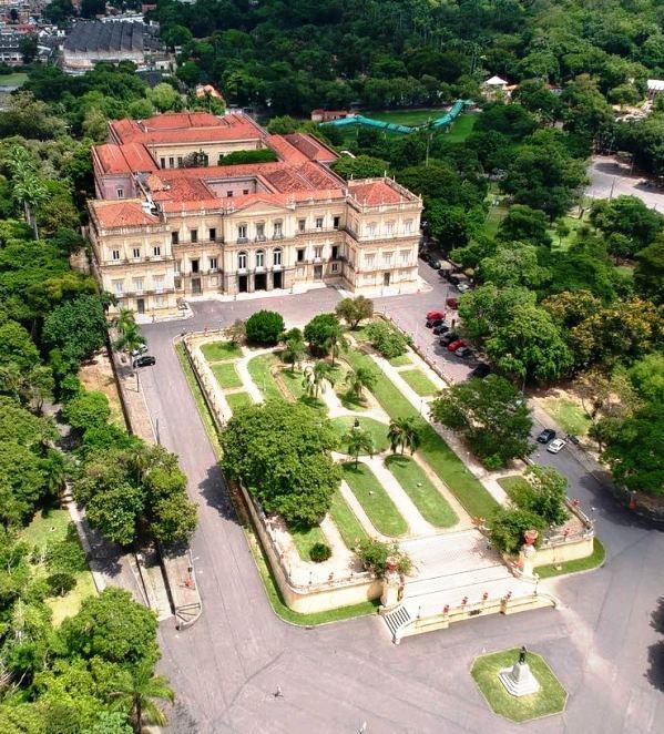 Vista do Palácio, erguido em 1808