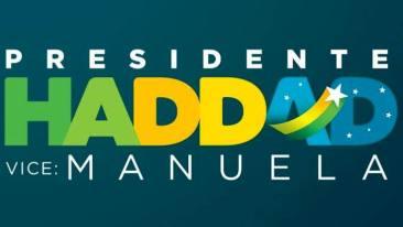 Logotipo travestido da campanha petralha